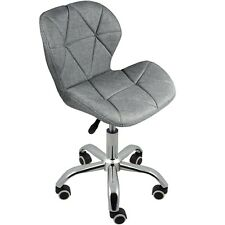 Charles Jacobs Hydraulic Lift Swivel Chair with Wheels - Grey