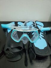 Zeeport Mask Fin Snorkel Set w/ Adult Snorkeling Gear+Travel Bag S/M