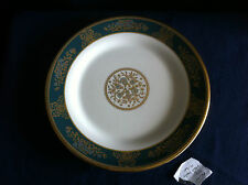 """Wedgwood Agincourt blue/gold 8 1/4"""" dessert plate (tiny flaws)"""