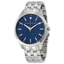 Armani Exchange Men's AX2166 Diamond Blue Dial Stainless Steel Bracelet Watch