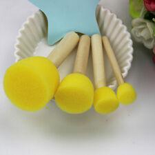 4Pcs Esponja Cepillo de pintura manija de madera temprana juguete Niño