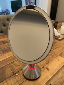 Simplehuman Sensor Freestanding Magnifying Mirror Touch Control Chrome Boxed