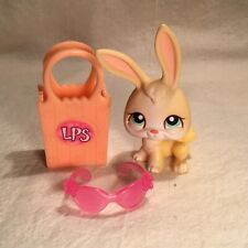 Authentic Littlest Pet Shop -LPS - BUNNY RABBIT #285 with basket and glasses