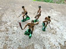 MARX WWII PAINTED PLASTIC JAPANESE TOY SOLDIERS(4)-54MM-ONE OFFICER & 3 INFANTRY