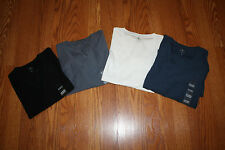 NWT Mens CALVIN KLEIN Faded Navy White Black Bayou Blue  V-Neck Shirt Size M-2XL