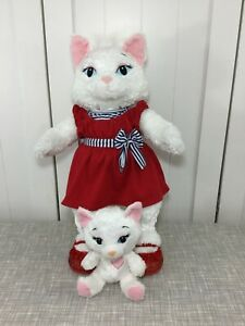 💜 Build A Bear Fluffy White Sassy Princess Cat & Smallfry w/ Red Dress & Shoes