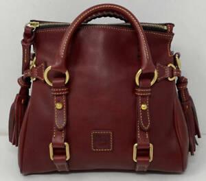 Dooney & Bourke Florentine Leather Micro Satchel ~ Bordeaux Red