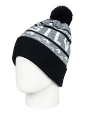 QUIKSILVER SUMMIT BEANIE HAT  BLACK ADULTS EQYHA03154 KVJ0  RRP £27  BOBBLE HAT
