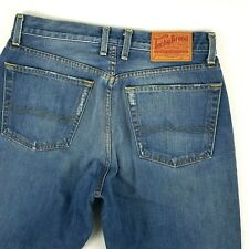 Lucky Brand mens jeans size 32 x 31 blue medium washed bootleg distressed jean