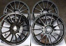 """18"""" ALLOY WHEELS FITS AUDI A1 A3 TT VW GOLF POLO BEETLE FABIA IBIZA FX004 BLACK"""