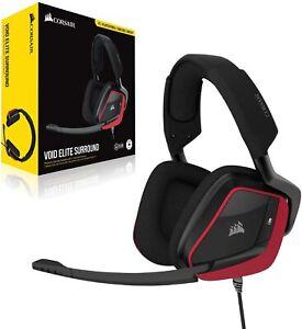 Corsair VOID ELITE Surround Gaming Headset 7.1 Surround Sound Headphone Red