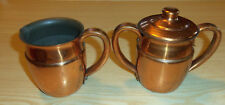 Old Colony Creamer & Sugar Bowl - Made of Anaconda Copper