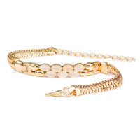 Fashion Gold Plated Chain Crystal Rhinestone Bracelet Women Bangle Jewelry Gift