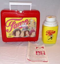 Vintage FAME Thermos Red Lunchbox 1983 Dance TV Show Performing Arts NY Movie