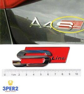 LOGO FREGIO STEMMA EMBLEMA POSTERIORE AUDI S LINE A1 A2 A3 A4 A5 A6 A7 Q3 Q5 Q7
