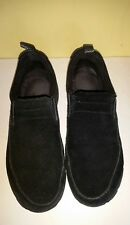 LL Bean women's black suede loafers size 8 medium