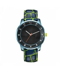 KENZO K0054004 Unisex Black Dial Leather Strap Watch