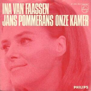 """INA VAN FAASSEN – Jans Pommerans / Onze Kamer (1969 VINYL SINGLE 7"""")"""