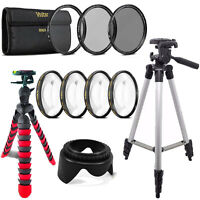 58mm Macro Filter + UV CPL ND +  Tripods for Canon EOS 70D 700D 1200D 1300D