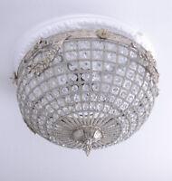 Deckenleuchte Hängelampe Deckenlüster Barock Leuchte Lüster Silber Lampe Antik