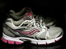 Saucony Grid Stratos 5 Gray Pink Women's Trainers Running Shoes Sz 8 (15190-1)