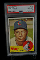 1963 Topps - Don Elston - #515 - PSA 8 - NM-MT
