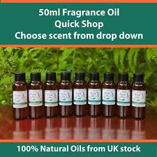 50ml Fragrance Oil Scent Candle & Soap Bath Bomb ( 80 Scents ) Buy 4 Get 1 50ml Lavender