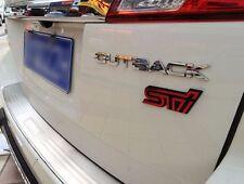 JDM RED STI TRUNK BADGE Emblem Decal Sticker for Subaru Impreza WRX Legacy 3D