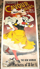 "CAVOUR CIGAR STONE LITHOGRAPH Georges Meunier 18x50"" LTD ED #63 of 250 RARE!!!"