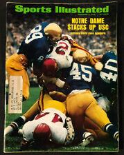 SPORTS ILLUSTRATED NOVEMBER 5, 1973 NOTRE DAME STACKS UP USC (VG/F)