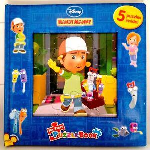 Handy Manny Puzzle Book Disney 5 x Puzzles Inside Ages  3 yrs plus