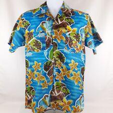 Vtg Waikiki Holiday Hawaiian Aloha Friday Shirt Palm Trees Island Mens Sz Medium