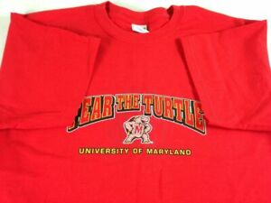 Maryland Terp Parent T-Shirt Adult SZ M/L University Fear The Turtle Mom Dad Tee
