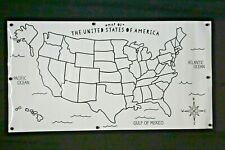 """Blank Us Map Laminated Dry Erase Poster, Reusable United States Map 24""""x 36"""""""