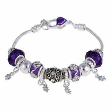& Bangles for Women Crystal Charm Silver Color Bracelet