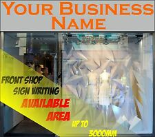 2.5m FRONT SHOP SIGN WRITING LETTERING SELF ADHESIVE VINYL STICKER LOGO GRAPHICS