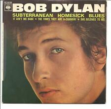Bob Dylan - Rare FRENCH EP Subterranean Homesick Blues. CBS 6096