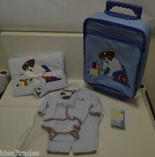ALLY & BAILEY BABY BOY BLUE LAYETTE CLOTHING, BLANKET SET ~ ULTIMATE SHOWER GIFT