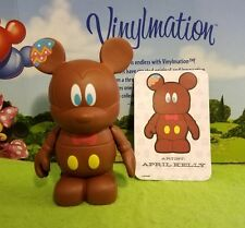 """DISNEY Vinylmation 3"""" Park Set 2 Holiday Easter Chocolate Bunny Mickey with Card"""