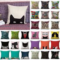 Vintage Pattern Linen Throw Pillow Case Linen Cushion Cover Home Decor 18inch