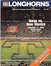 September 17, 1988 TEXAS LONGHORNS vs. NEW MEXICO Football Game Program