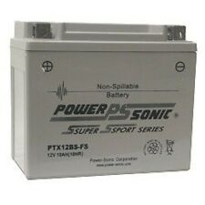 BATTERY COMPATIBLE WITH GS JSB GTX12-BS FACTORY SEALED 12V  10AH  180CCA EA.