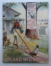 1887 PLANO Farm HARVESTING Machinery CATALOG Advertising ANTIQUE Harvester