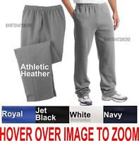 BIG MENS Open Bottom Sweatpants with POCKETS Comfortable Sizes 2XL 3XL 4XL NEW