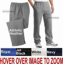 BIG MENS Comfortable Open Bottom Sweatpants with POCKETS! 2XL 3XL 4XL NEW!