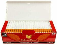 Golden Harvest Cigarette Filter Tubes - Red - King Size 200ct Per Box (5-Boxes)