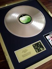 THE BEATLES LET IT BE LP 24CT GOLD PLATED DISC RECORD AWARD ALBUM