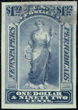 """#PR24TC 1895 """"GOODALL"""" TRIAL COLOR PROOF ON INDIA PAPER/DULL GRAY BLUE"""