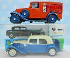 New Listing1:43 Eligor 1939 Citroen Taxi & 1934 Miror Lion Noir ~ Lot of Two ~ Ln