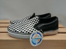 2158933d0b34bc Woven Leather Checkerboard Vans Slip on 50th Anniversary Men s Size 5.5 US